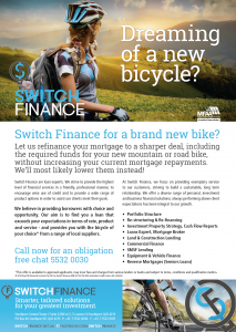 Switch Finance for a new bicycle.
